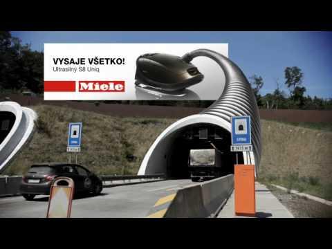 トンネル掃除機に車が吸い込まれていく模様!!